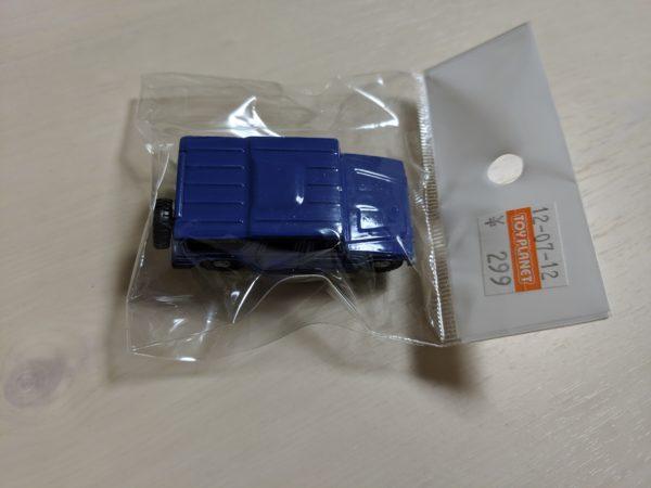 ミニカーのメガクルーザーの写真(青)